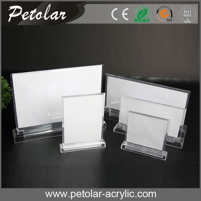 New transparent acrylic place card holders