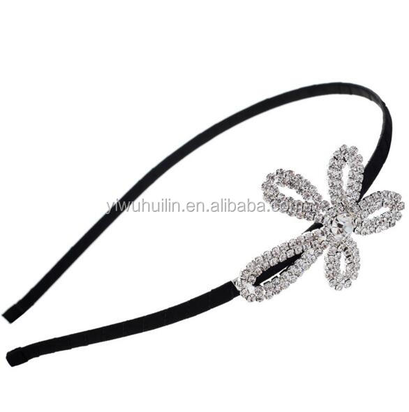CZ058 Girls Pearl Bowknot Hairband Crystal Jewelry Bead Princess Headband Hair Band Accessories