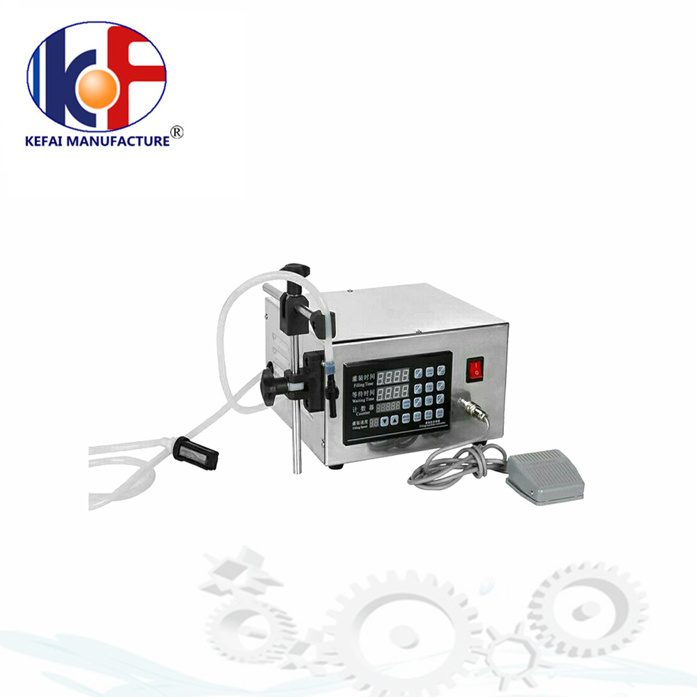 high accuracy small digital control stainless steel pump normal saline liquid filling machine with CE