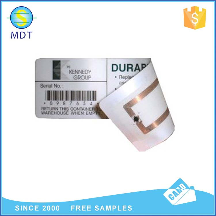 Mdt rfid sticker UHF blank printable for zebra printer