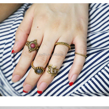 Charm Bowknot Knuckle Midi Mid Finger Tip Stacking La s Finger
