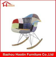 New Design Colorful Fabric Covers Metal Frame Modern Rocking Chair