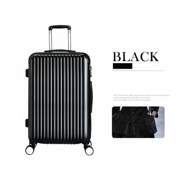 2018 New hard outdoor vali trolley bag case PC colorful suitcase valise bag