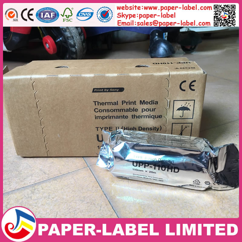 New product 2016 UPP-110S&UPP-110HG&UPP-110HD ultrasound thermal paper roll for sony printer