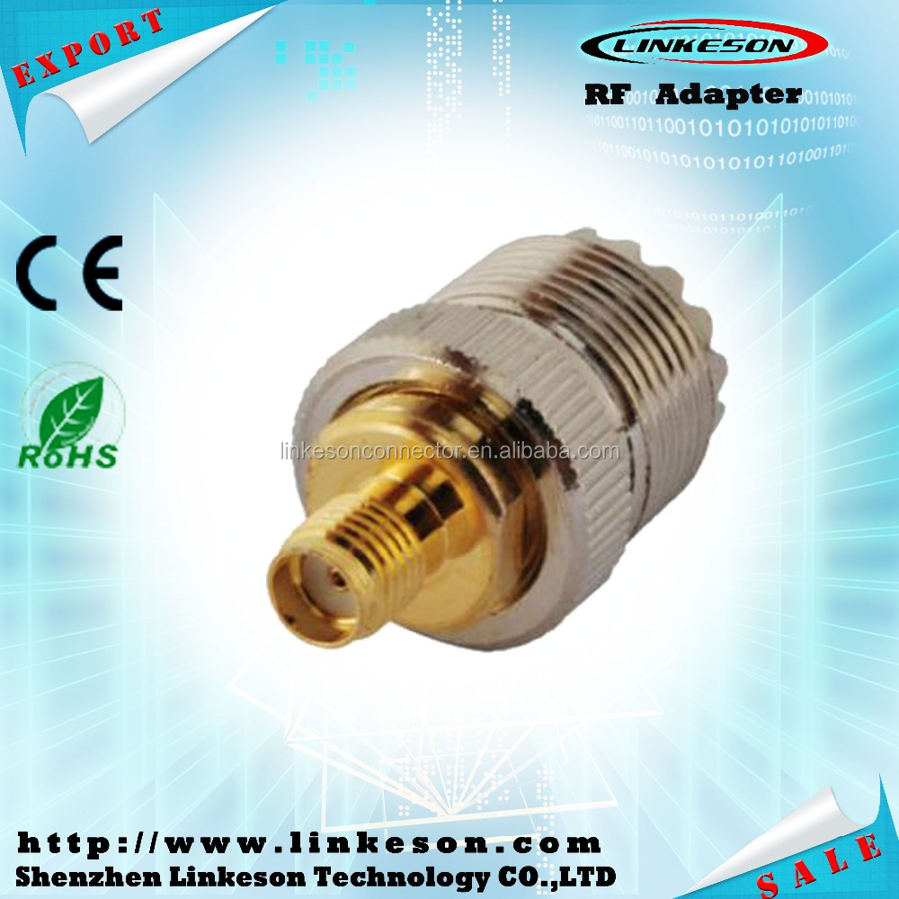 SMA female to UHF PL259 SO239 coaxial connector