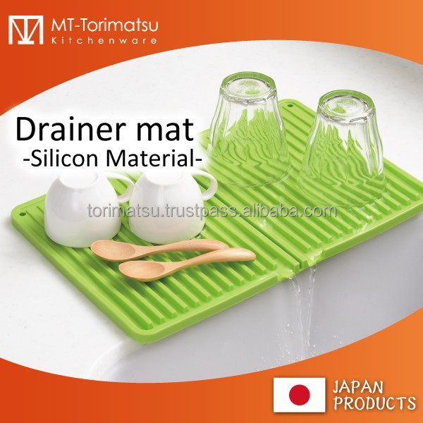 Silicone Kitchen Dish Drainer Mat For Dish Cup And Any Kitchen ...