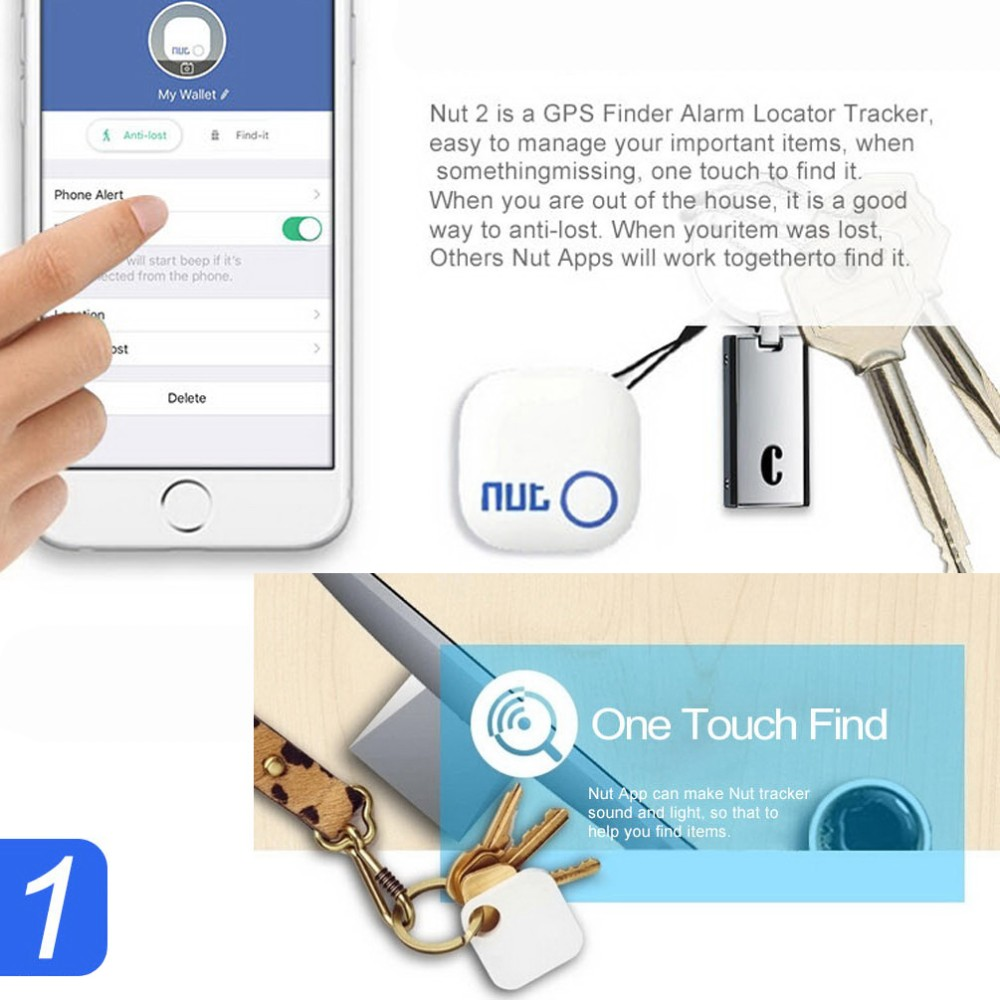 Nut 2 Smart Bluetooth Anti-lost Tracker Tracking Wallet/key Tracer Finder  GPS Locator Finder Finding Anything and Everything