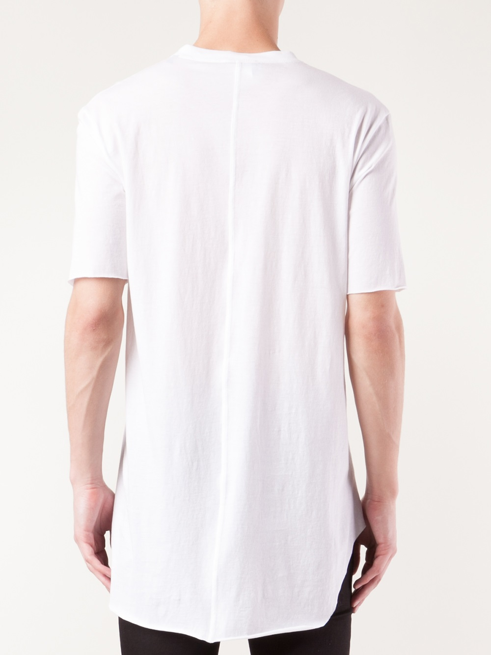 Plain White 100% Cotton T-shirt Tall Tee Wholesale