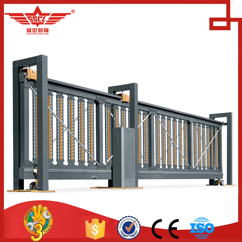 Electric operated retractable aluminum gate automatic gate entry industrial front gate Casting aluminum sliding exterior-L1798