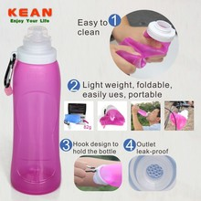 Soft BPA Free Silicone Bowling Pin Water Bottles