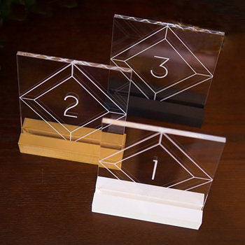 Acrylic Table Numers For WeddingCustom Acrylic Restaurant Table - Custom restaurant table numbers