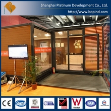 High Quality 20ft container shop or office with a lot of glass