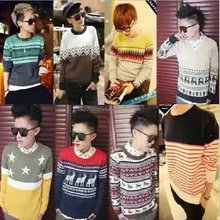 1.35USD Top Cheap Assorted Prints Man Pullover Knitted Knit Stock Clothes/Sweater/Garment (gdzw217)