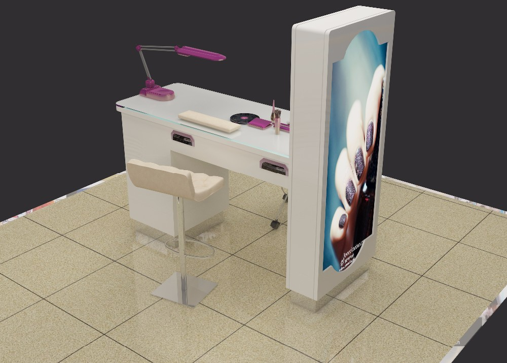 Professional White Nail Salon Table Modern Manicure Table