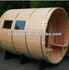Good quality best sale barrel sauna room with wood fired stove