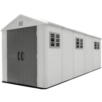 Five- room big size outdoor HDPE Plastic storage garden shed for backyard