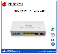 Huawei OLT MA5608T compatible GPON ONT CATV ONT with WIFI model 4 data ports