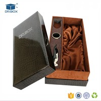 Luxury leather wine gift box and accessories/Leather champagne Carrier XO wooden packaging box