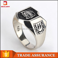 Alchemy gothic jewelry 925 sterling silver engrave poison skull ring for men