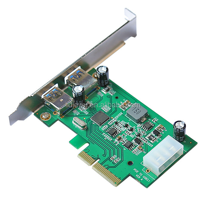 Chipset Asm1142 Pci Express Card To 2 Usb3.1 Riser Card