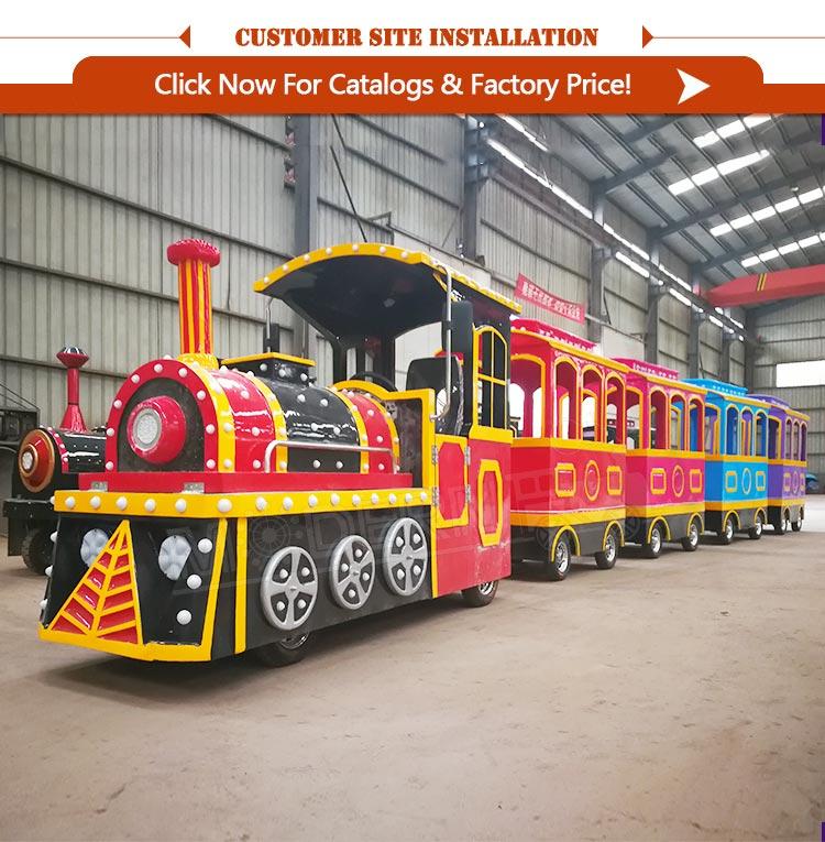 Newest children kids rides amusement park trackless train rides for sale