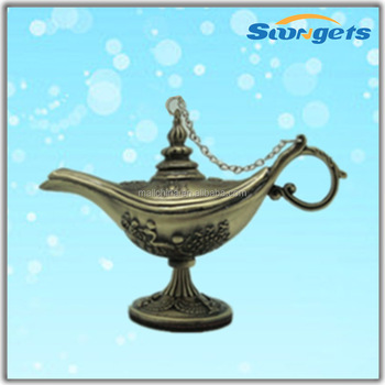 small Aladdin Lamp in Egypt design Brass color