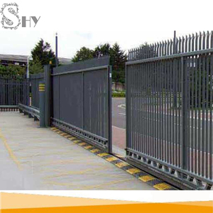 used metal iron garden sliding door gate design