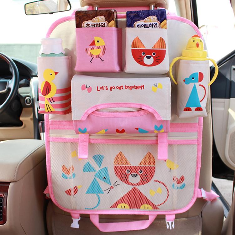 Bird Pattern Travel Back Seat Car Organizers For Kids Baby Car Seat ...