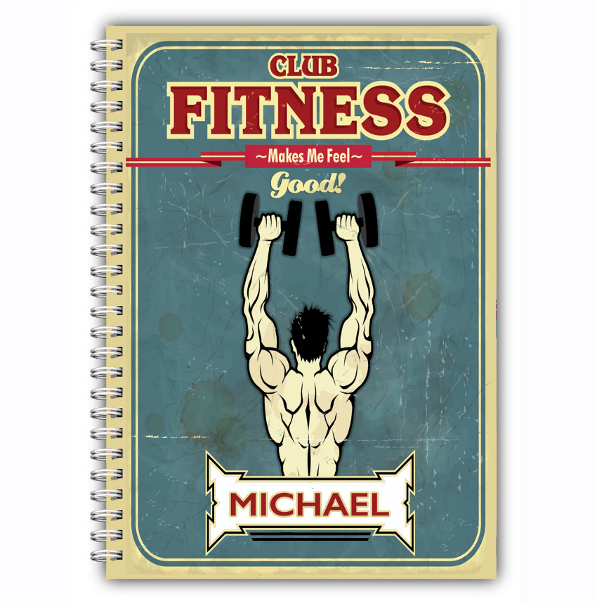 Mans best gift club fitness gym Log notebook