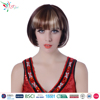 Styler Brand 2016 women 10 inch bob party hair wig halloween short straight mixed wig