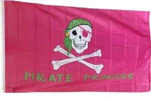 3x5 Jolly Roger Pink Pirate Princess Flag 3'x5' House Banner