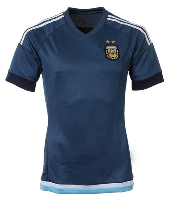 6a4d6c5786e Top quality Argentina jersey 2015 america's cup away soccer jersey 10  football clothes set customize argentina
