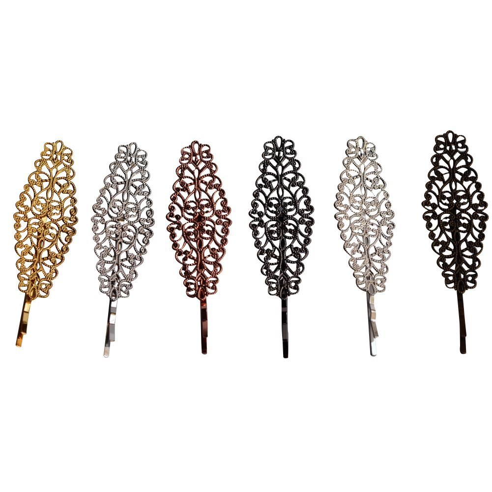 Bzybel Vintage Metal Hair Clips Retro Hairpins Party Accessories Non Slip Wedding Prom