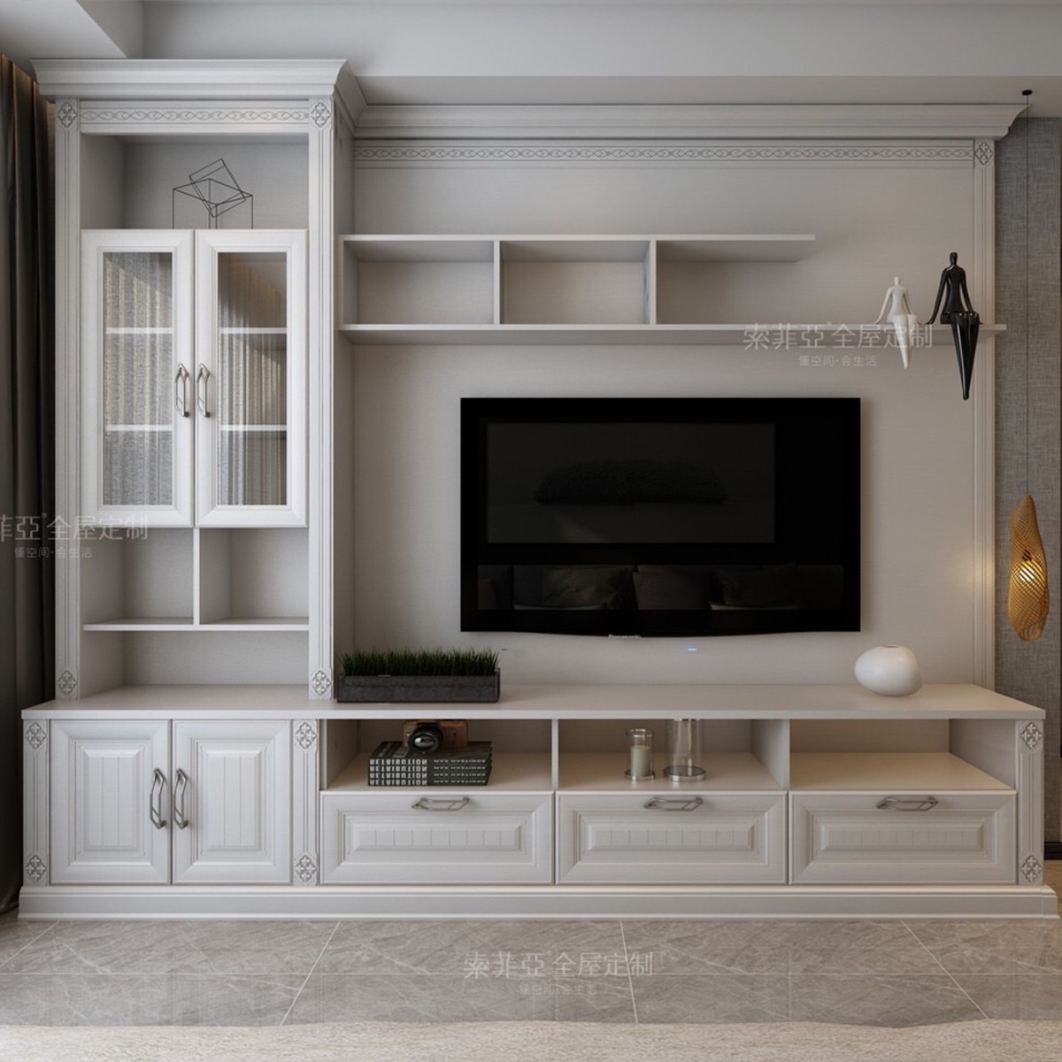 Custom Design Modern Showcase Furniture Living Room Tv ...