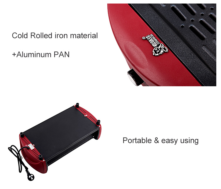 Korea Japan Red Color Perfect Flame Infrared Vertical Electric BBQ Grill