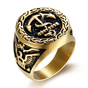 484cad1b92fc9 Wholesale Customized Stainless Steel US Navy Rings for Men