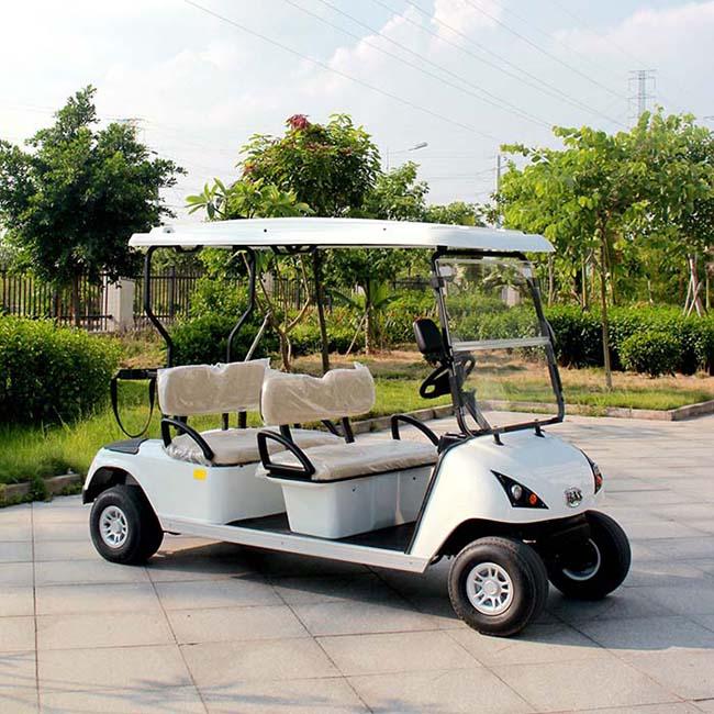 ce approuv lectrique voiturette de golf 4 places pour vente dg c4 chariot de golf id de. Black Bedroom Furniture Sets. Home Design Ideas