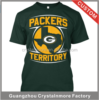 High Quality Packers T Shirts Printing Custom 100% Cotton