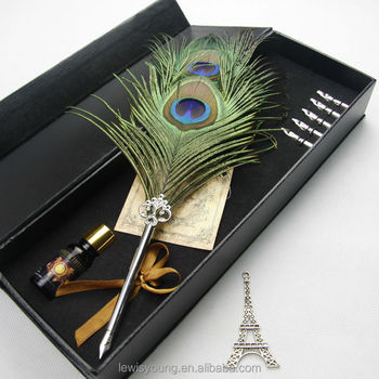 Skyling Antique Feather Pen Set Metal Nibbed Calligraphy