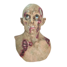 Costume di Halloween Party Dress Up Realistico <span class=keywords><strong>In</strong></span> <span class=keywords><strong>Lattice</strong></span> di Orrore Male Zombie Testa Mask & zombie <span class=keywords><strong>maschera</strong></span> di halloween