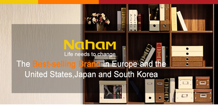 NAHAM Vintage style Metal Button Collapsible Storage Shoe Box
