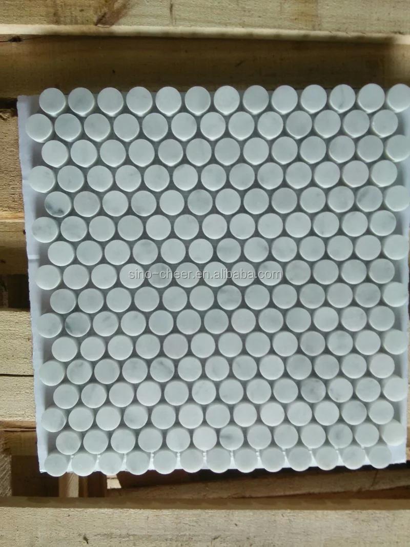 20mm Bianco Carrara Marmor Stein Mosaik Fur Wand Boden Bad Kuche