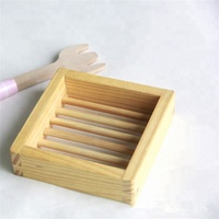 Bathroom Wooden Soap Dish soap Tray/Holder/Rack/Plate for Bath Shower