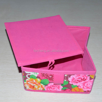 Wholesale collapsible Foldable cube fabric storage box