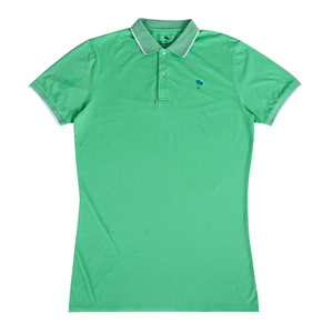 c35a2ca9d 2018 short sleeve green women cotton fabric polo shirt