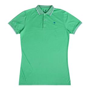 2018 short sleeve green women cotton fabric polo shirt