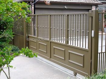 Folding Gate Metal Door Frame Double Steel Entry Gyd