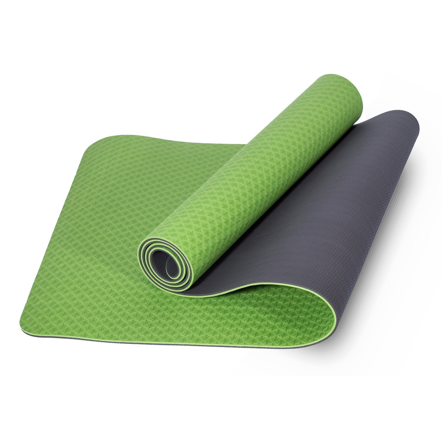 Large 3mm Thick Yoga Mat Pilate Exercise Non Slip Gym Fitness with Carry Strap 8 Sporting Goods