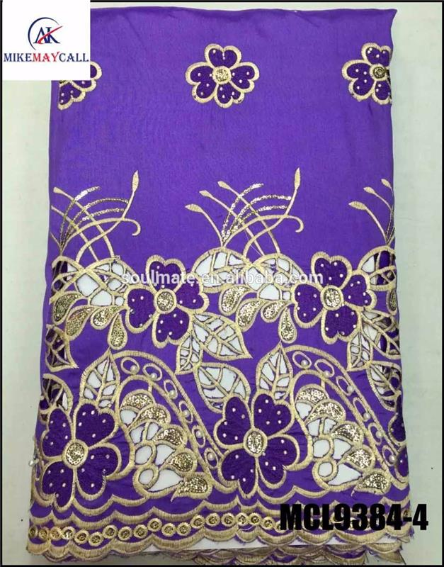 intorica beaded george wrappers /nigerian George Fabric purple india raw silk Georges Wrapper