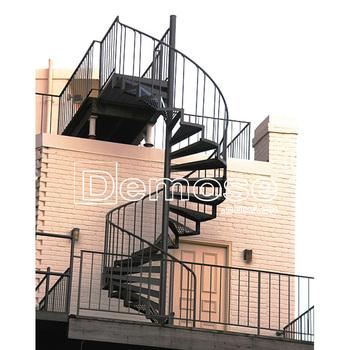 Outdoor Spiral Steel Stairs/galvanized Steel Spiral Stair